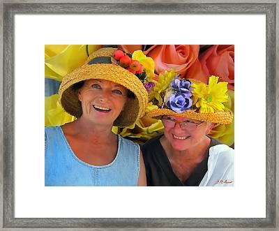 The Flower Girls Framed Print