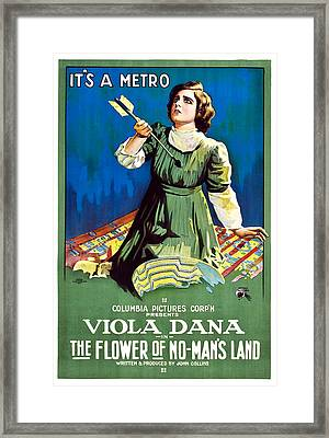 The Flower Of No Mans Land, Viola Dana Framed Print by Everett