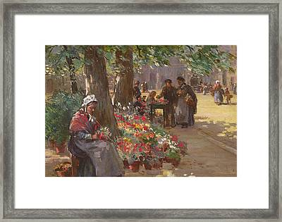 The Flower Seller Framed Print by William Kay Blacklock