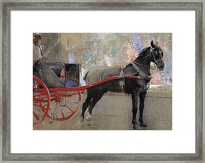 The Flower Shop Framed Print by Joseph Crawhall