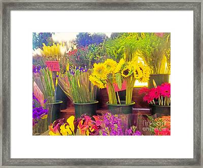 The Flower Stand  Framed Print by Kristine Nora