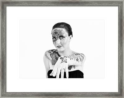 The Flower Tattoo  Framed Print by Alex Pochinok