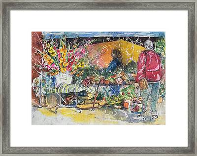 The Flower Vendor Framed Print