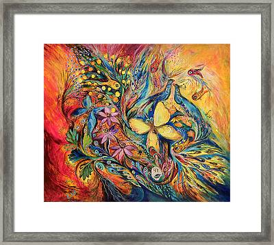 The Flowers And Butterfly Framed Print by Elena Kotliarker
