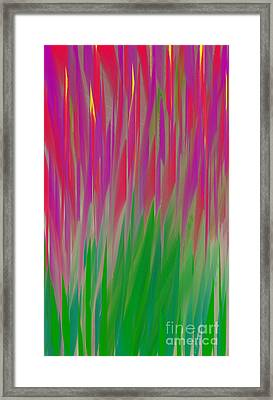 The  Flowers Of The Field - Abstract - Floral Framed Print by Andee Design