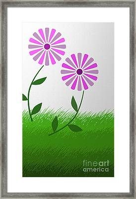 The Flowers Run Free Framed Print