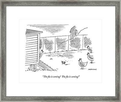 The Flu Is Coming!  The Flu Is Coming! Framed Print by Mick Stevens
