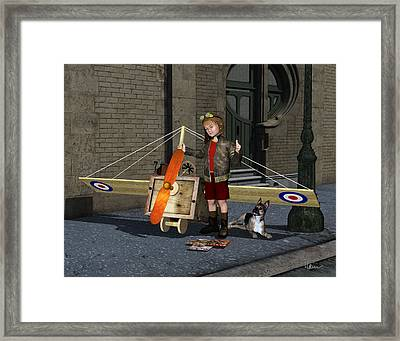 The Flying Ace Framed Print