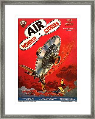 The Flying Buzz Saw Framed Print
