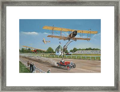 The Flying Circus Framed Print by Kenneth Young