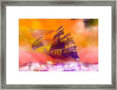 The Flying Dutchman Ghost Ship Framed Print by Carol and Mike Werner