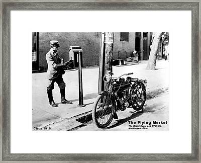 The Flying Merkel 1910 Framed Print