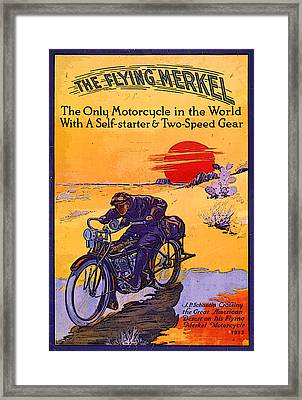The Flying Merkel 1913 Framed Print