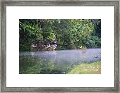 Framed Print featuring the photograph The Fog Of Late Summer by Julie Clements