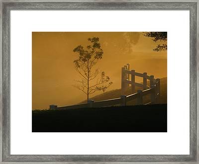 The Fog Framed Print