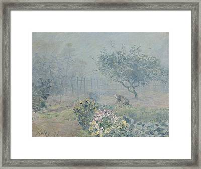 The Fog, Voisins, 1874 Framed Print