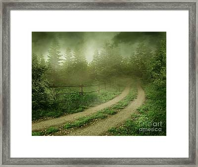 The Foggy Road Framed Print by Boon Mee