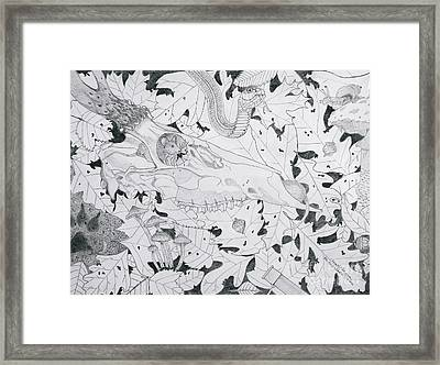The Food Chain With Description Framed Print by Gerald Strine