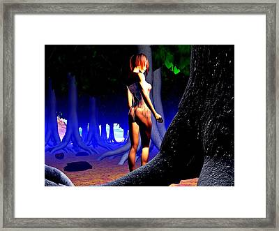 The Forbidden Forest Framed Print