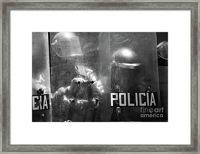 The Force Of The Law Framed Print by James Brunker