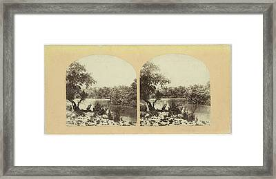 The Ford Of The Jordan, Francis Frith, Negretti & Zambra Framed Print by Quint Lox