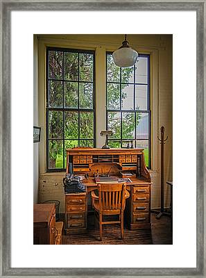The Foreman's Desk Framed Print