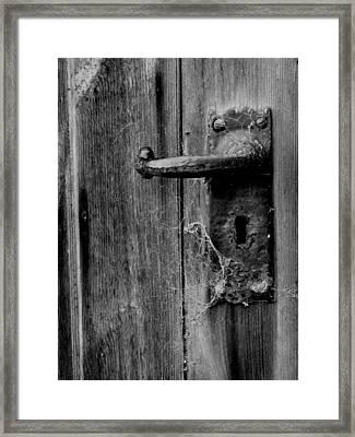 The Foreman's Door Framed Print