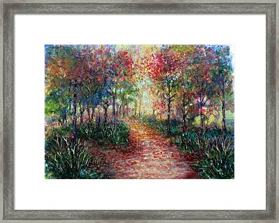 The Forest At Falltime Framed Print