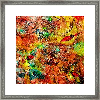 Framed Print featuring the painting The Forest Floor by Carolyn Repka