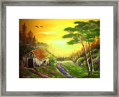 The Forest House Framed Print by M Bhatt