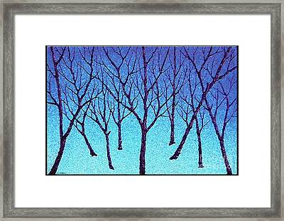 The Forest Of Sad Framed Print by Cristophers Dream Artistry