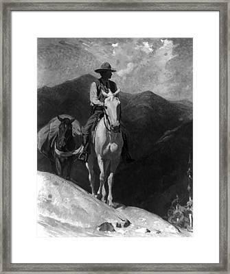 The Forest Ranger Framed Print by W Herbert Dunton