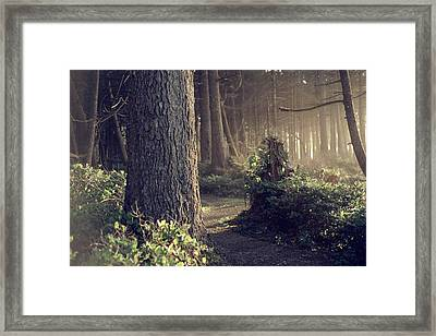 The Forest Whispers Antique Framed Print by Harmony Lawrence