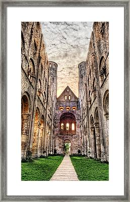 The Forgotten Abbey 3 Framed Print