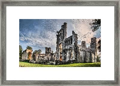The Forgotten Abbey - Painitng Framed Print