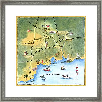 The Forgotten Coast St. Marks Framed Print by Audrey Peaty