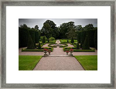 The Formal Gardens In Hillsborough Framed Print