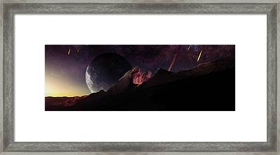 The Formation Of Earth With Many Framed Print by Justin Kelly