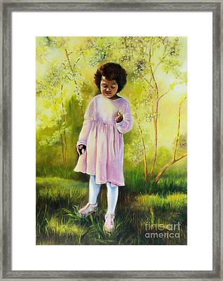 The Forsythia Framed Print by Marlene Book