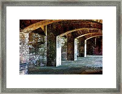 The Fort At The Dry Tortugas National Park Framed Print