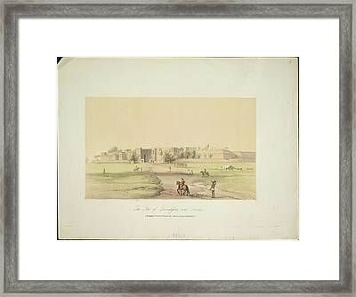 The Fort Of Govindghur Framed Print by British Library