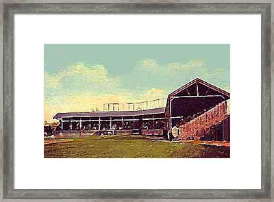 The Fort Wayne In Baseball Stadium Around 1910 Framed Print by Dwight Goss
