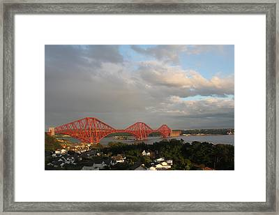 Framed Print featuring the photograph The Forth Bridge - Scotland by David Grant