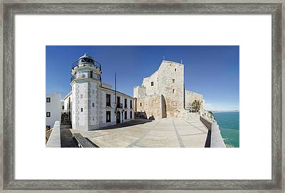 The Fortress And Lighthouse, Chateau De Framed Print by Panoramic Images
