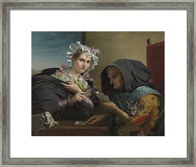 The Fortune Teller Framed Print by Adele Kindt