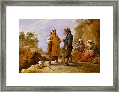 The Fortune Teller Framed Print by David the Younger Teniers