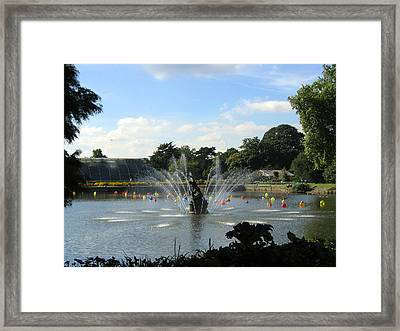 The Fountain At Kew Gardens Framed Print