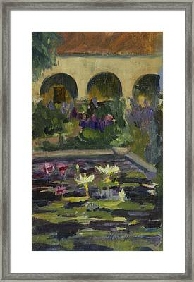 Fountain At Mission San Juan Capistrano Framed Print
