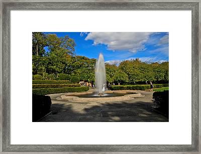 The Fountain Framed Print by Douglas Adams