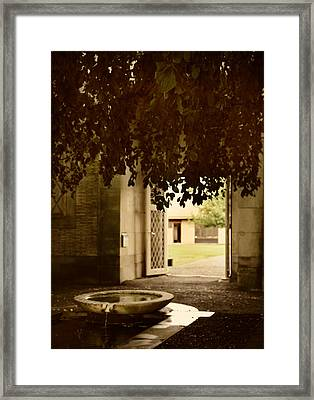 The Fountain Framed Print by Jessica Jenney